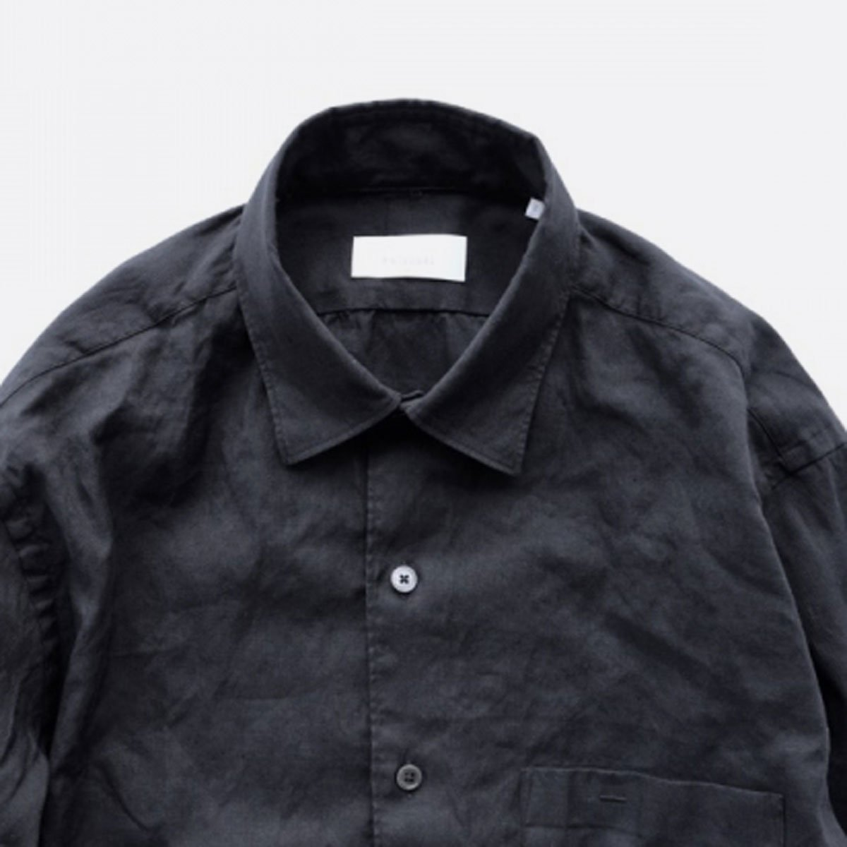 Phlannel American Sea Island Linen Anonymous Shirt  (Dark Navy)4