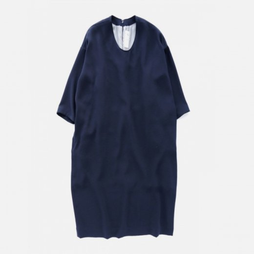 ACETATE POLYESTER DOUBLE CLOTH ONE PIECE -LONG TYPE-