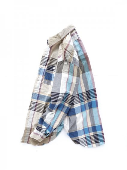 Engineered Garments  Work Shirt - Big Plaid  (KHAKI)3