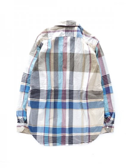 Engineered Garments  Work Shirt - Big Plaid  (KHAKI)4