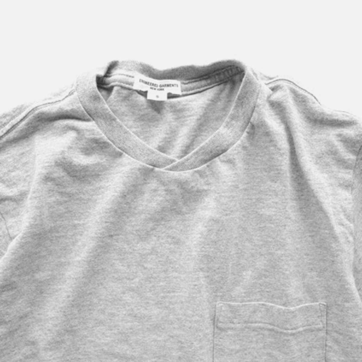 Engineered Garments  Workaday C/N Pocket Tee  (GREY)3