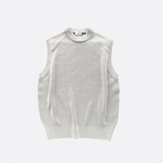 <img class='new_mark_img1' src='https://img.shop-pro.jp/img/new/icons39.gif' style='border:none;display:inline;margin:0px;padding:0px;width:auto;' />WASHI SILK CREW NECK KNIT VEST