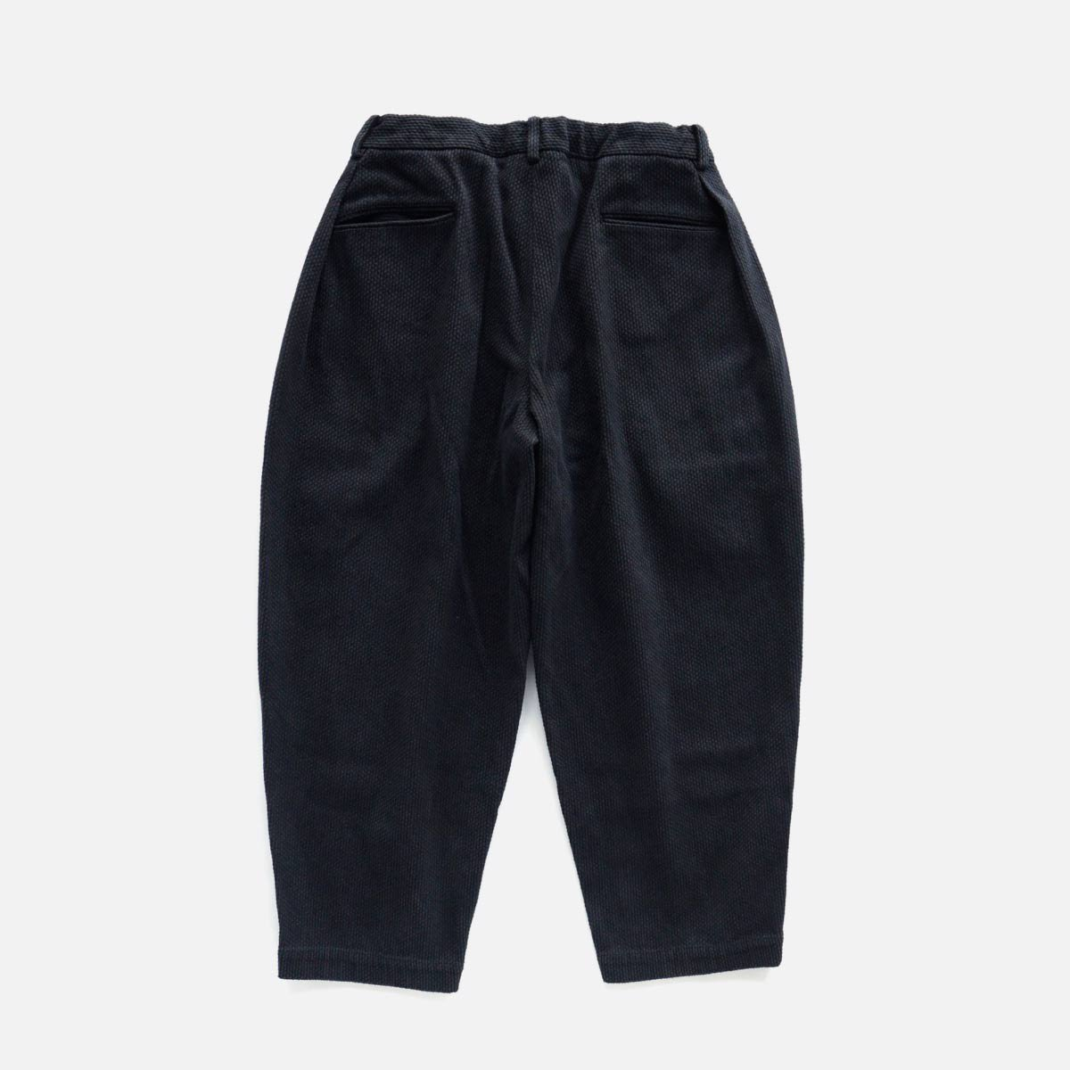 COLINA Sashiko W-tuck Wide Pants  (Black)2