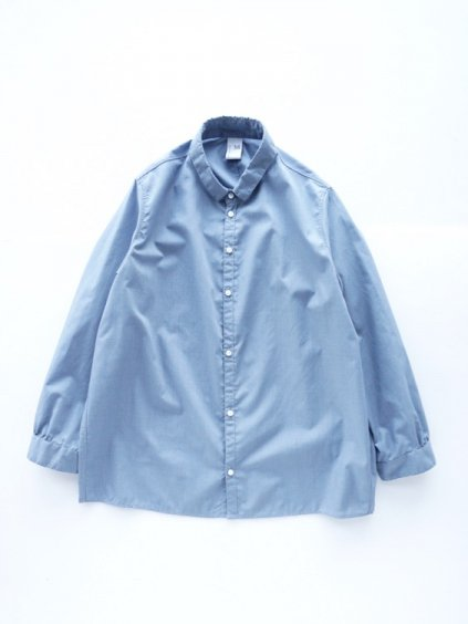NO CONTROL AIR POLYESTER&COTTON MELANGE BATISTE SHIRTS - Lady's -  (light blue top )