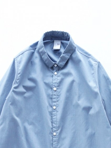 NO CONTROL AIR POLYESTER&COTTON MELANGE BATISTE SHIRTS - Lady's -  (light blue top )2