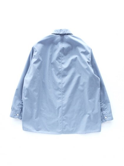 NO CONTROL AIR POLYESTER&COTTON MELANGE BATISTE SHIRTS - Lady's -  (light blue top )4