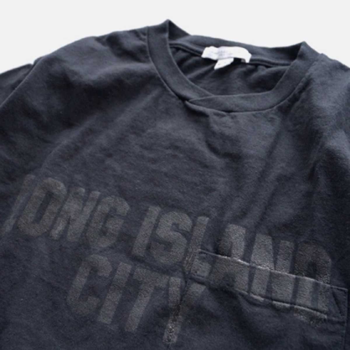 Engineered Garments Printed Cross Crew Neck T-shirt - LONG ISLAND CITY  (NAVY)4