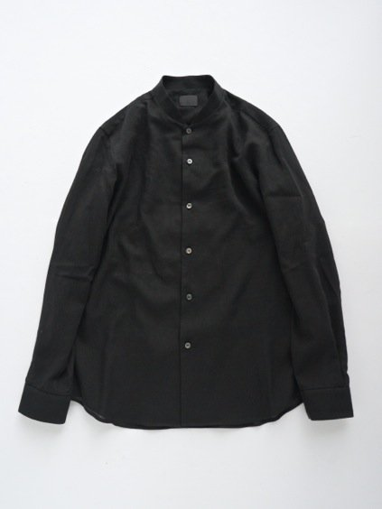 山内 FRENCH CTN STAND COLLAR SHIRTS (black)