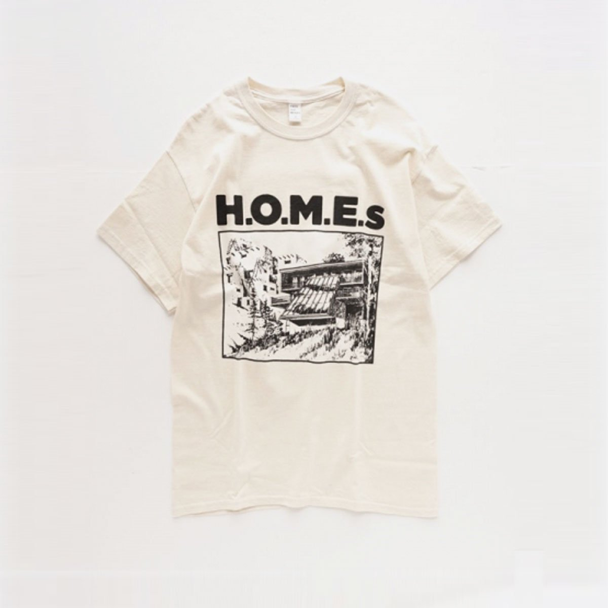 ENDS & MEANS H.O.M.E. S TEE  (NATURAL)