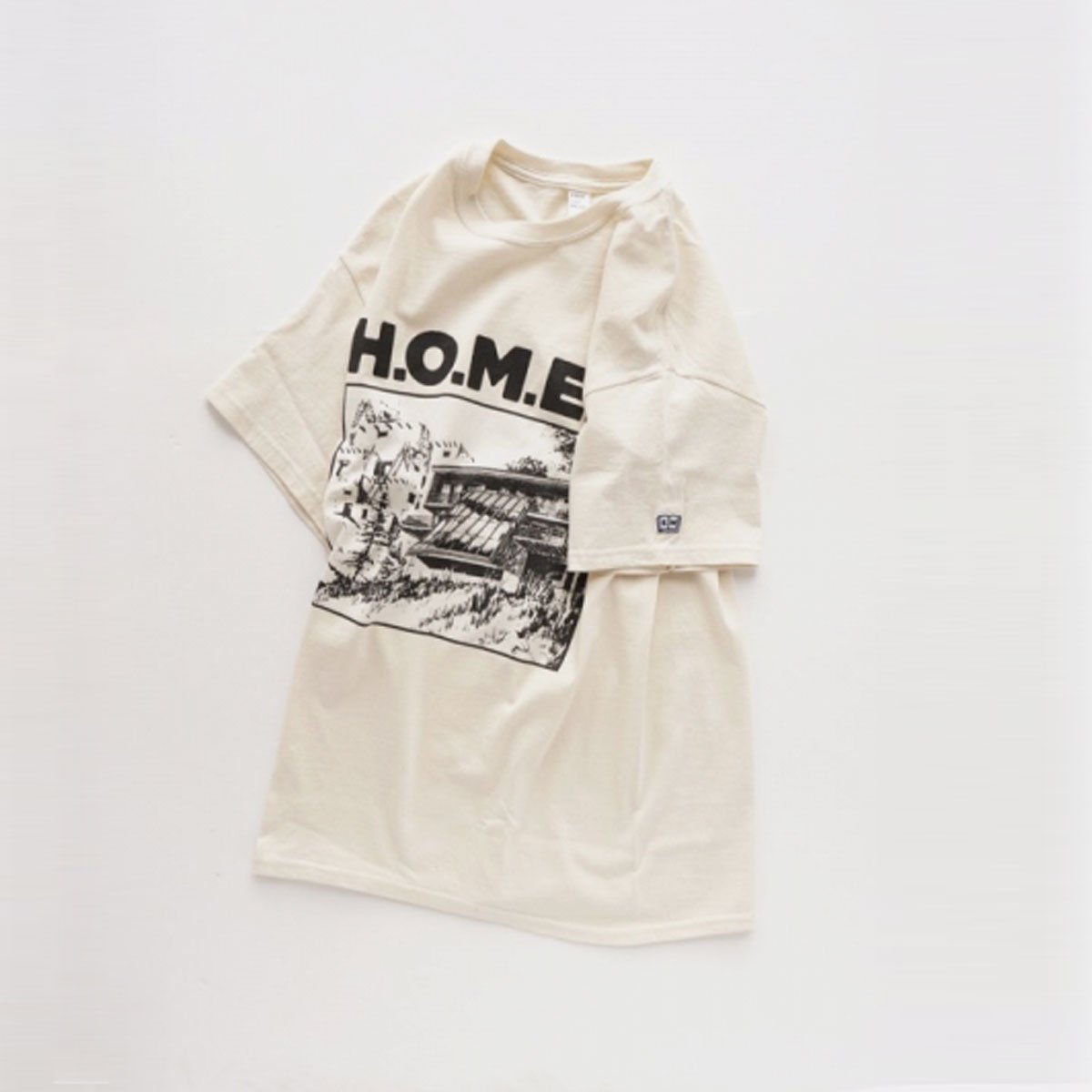 ENDS & MEANS H.O.M.E. S TEE  (NATURAL)2