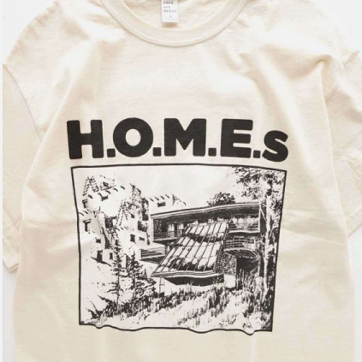 ENDS & MEANS H.O.M.E. S TEE  (NATURAL)3