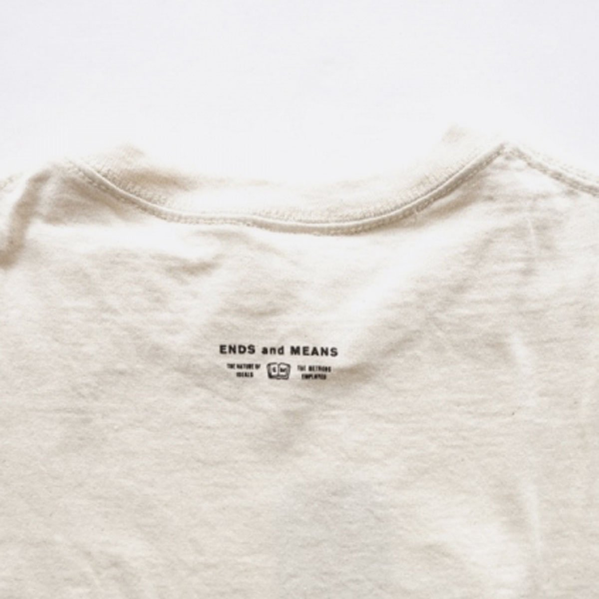 ENDS & MEANS H.O.M.E. S TEE  (NATURAL)4