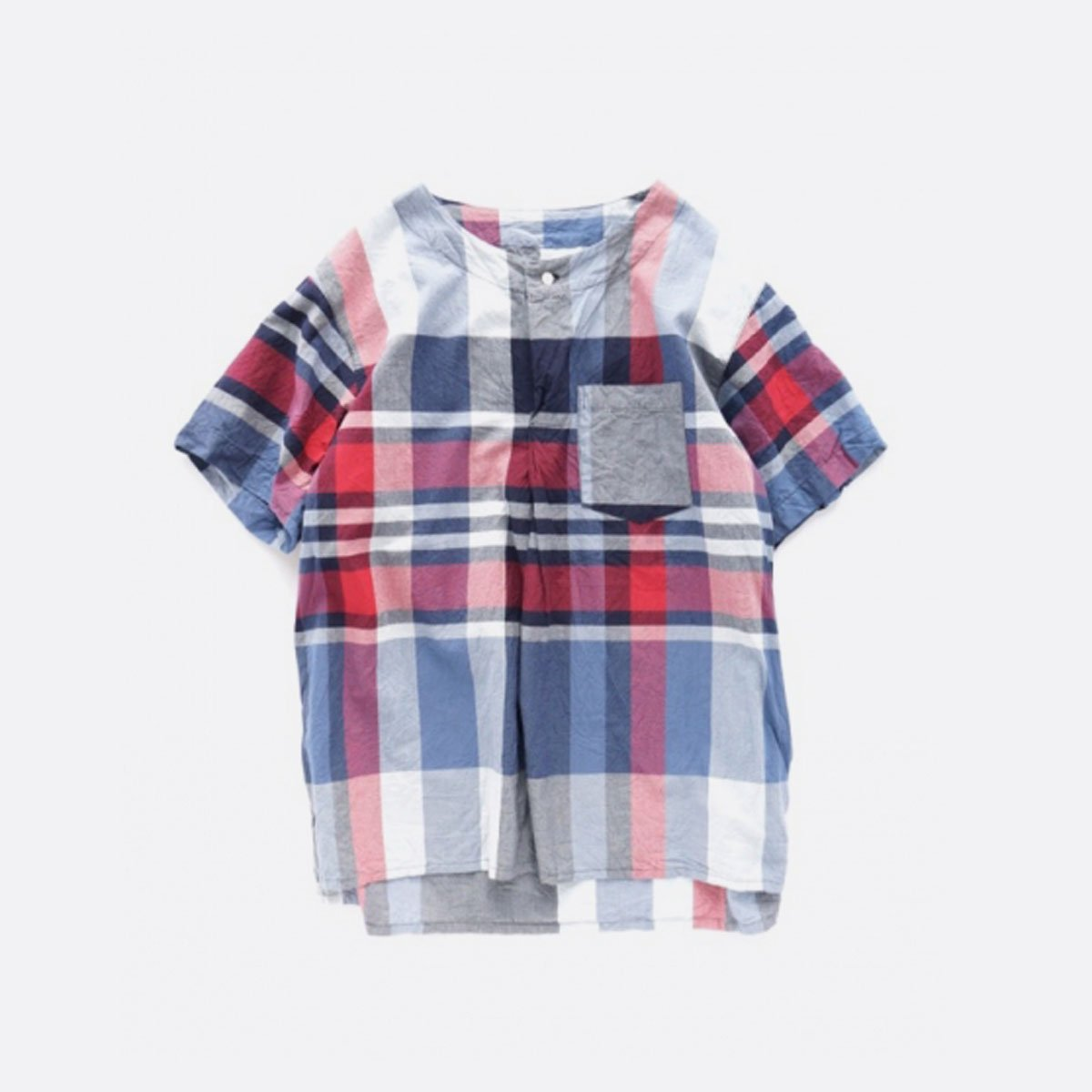 Engineered Garments  Med Shirt Big Madras Plaid (NAVY/RED)1