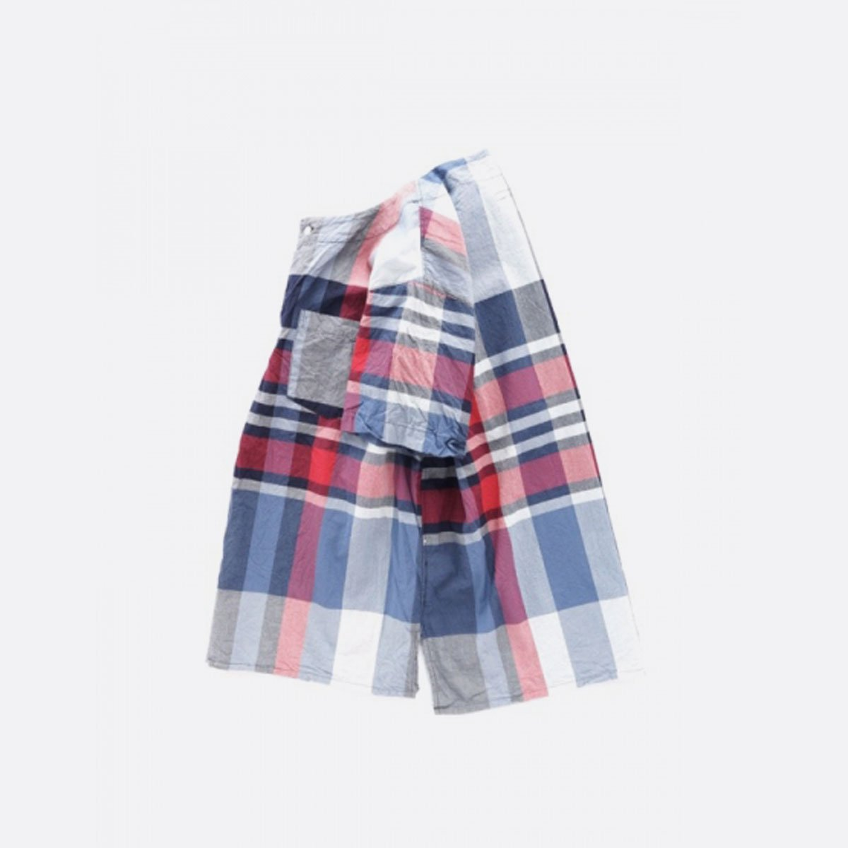 Engineered Garments  Med Shirt Big Madras Plaid (NAVY/RED)3