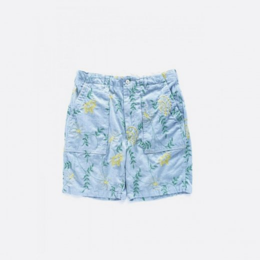 <img class='new_mark_img1' src='https://img.shop-pro.jp/img/new/icons39.gif' style='border:none;display:inline;margin:0px;padding:0px;width:auto;' />FATIGUE SHORT DENIM FLORAL EMBROIDERY