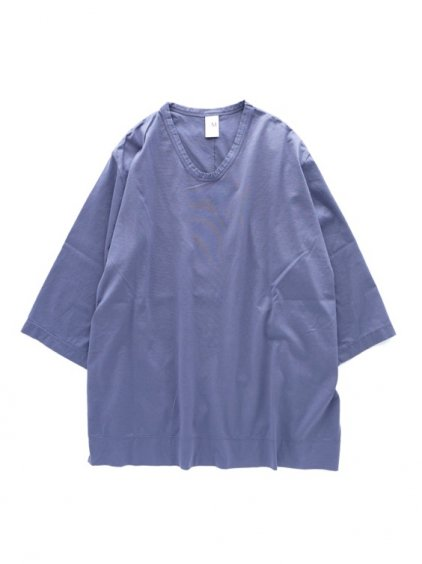 NO CONTROL AIR 60/2 MANYTIMES MERCERIZED & BIO-PROCESSING PLAIN KNIT CUTSEW(blue lavender)1