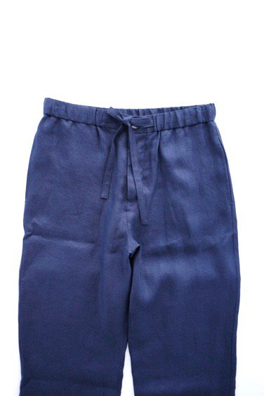 niuhans pajama   Comfort French Linen Pants  (Midnight Blue)2