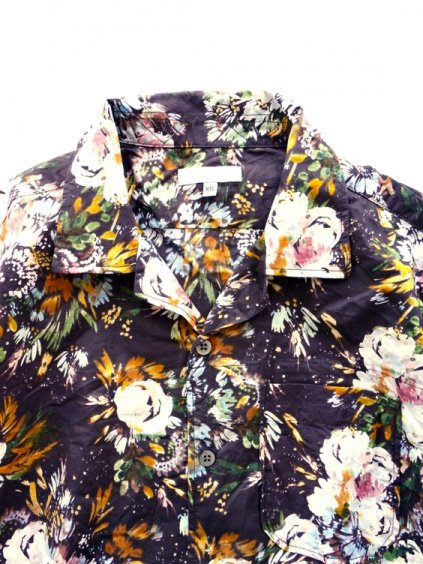 Engineered Garments  Camp Shirt - Botany Printed Lawn  (DK.NAVY)2