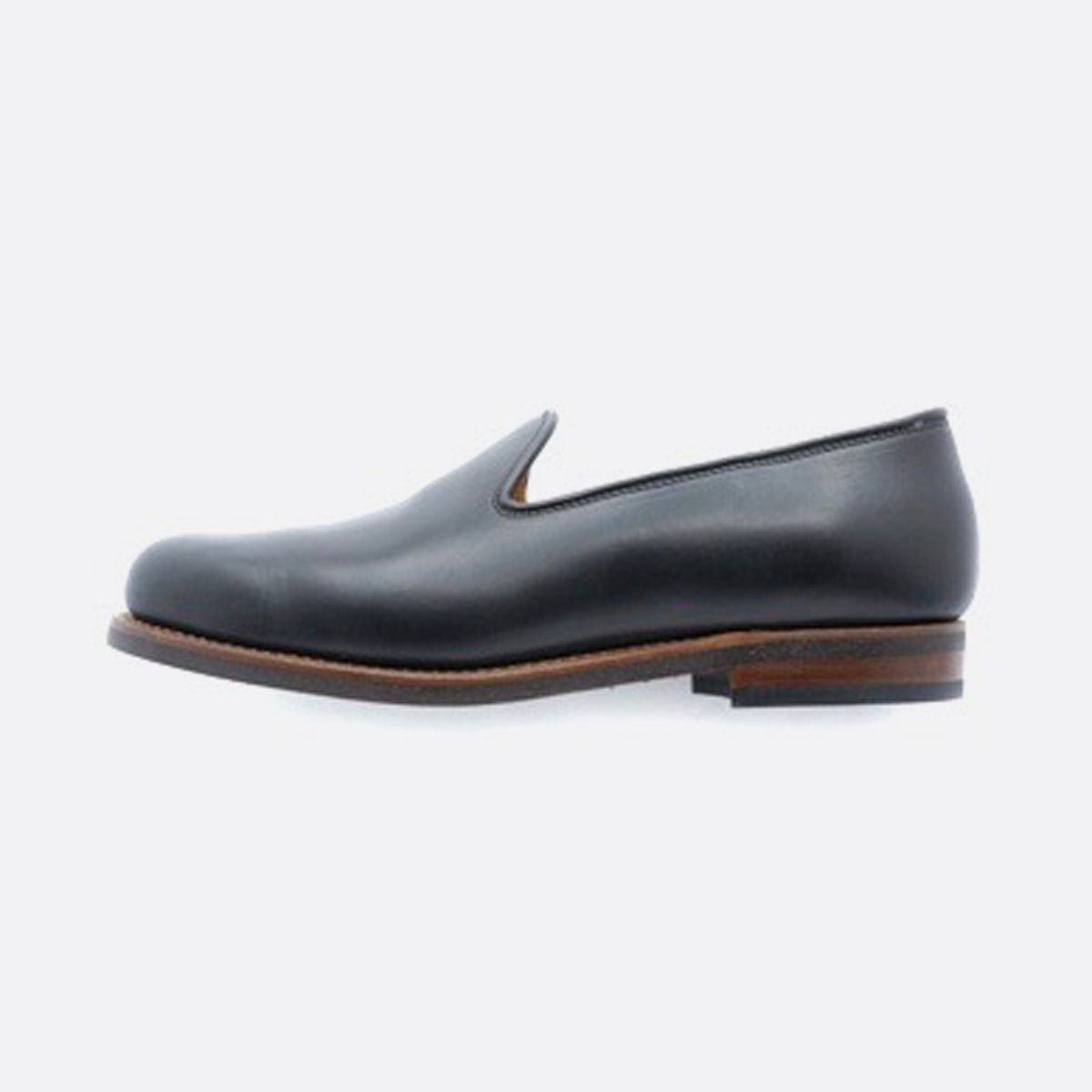 LEATHER&SILVER MOTO SLIP ON CHROMEXCEL#2510 (BLACK)