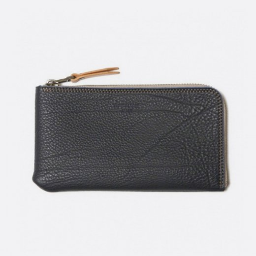 GERMAN SHURANKEN CALF ZIP LONG WALLET ''elle''