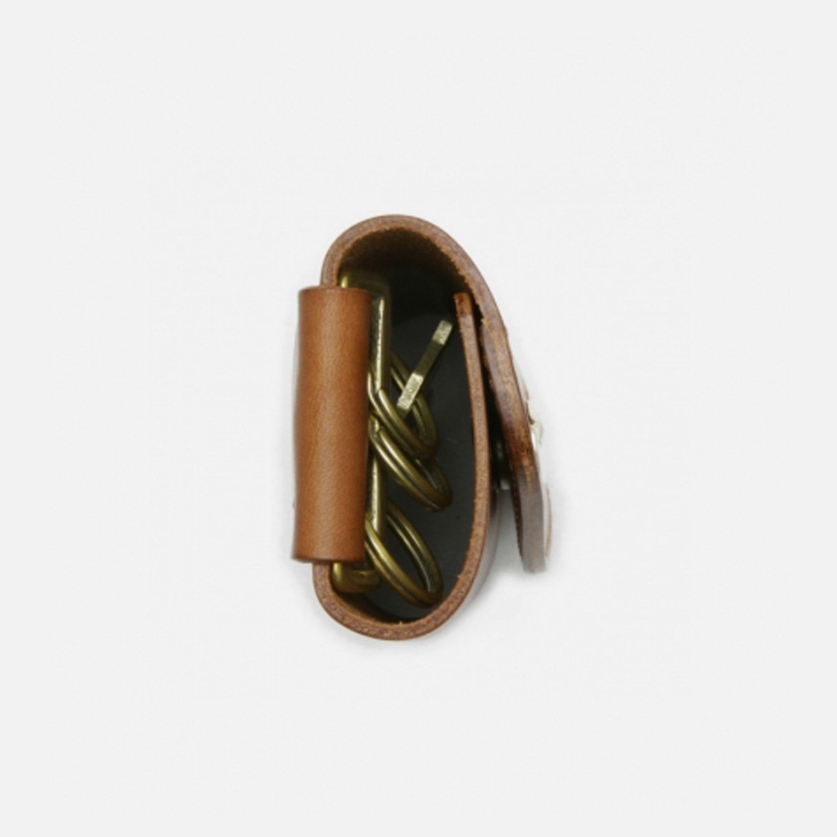 MOTO LEATHER KEYCASE (BROWN)3