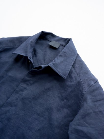 山内 別注DEAD STOCK STRETCH LINEN SHIRT (navy)2
