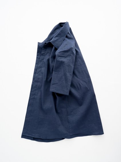 山内 別注DEAD STOCK STRETCH LINEN SHIRT (navy)3