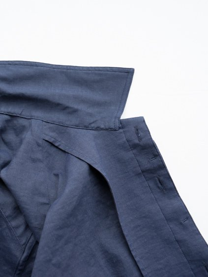 山内 別注DEAD STOCK STRETCH LINEN SHIRT (navy)4
