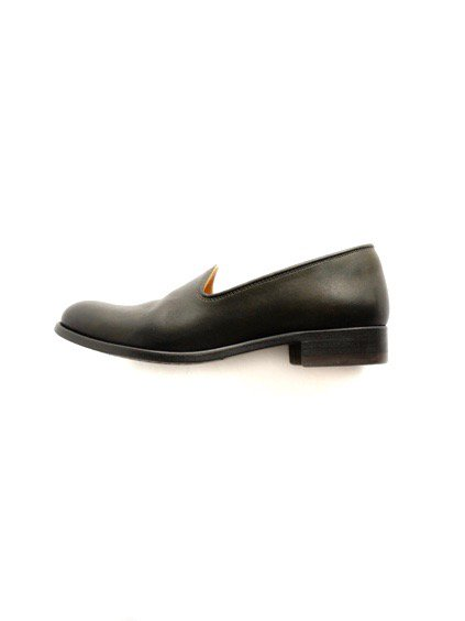 LEATHER&SILVER MOTO SLIP ON LADY'S #3056 (BLACK)