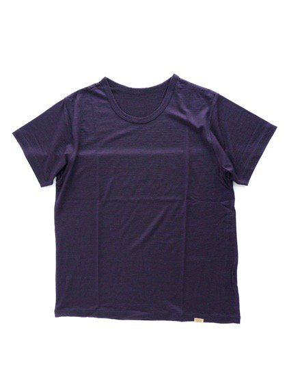 COLINA Super120s Washable Wool Tee  (Purple)