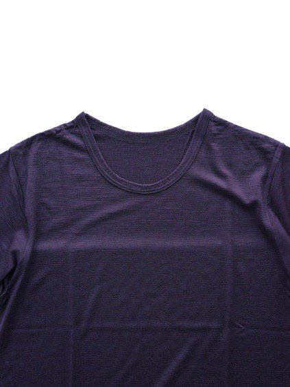 COLINA Super120s Washable Wool Tee  (Purple)2