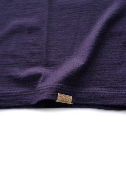 COLINA Super120s Washable Wool Tee  (Purple)4