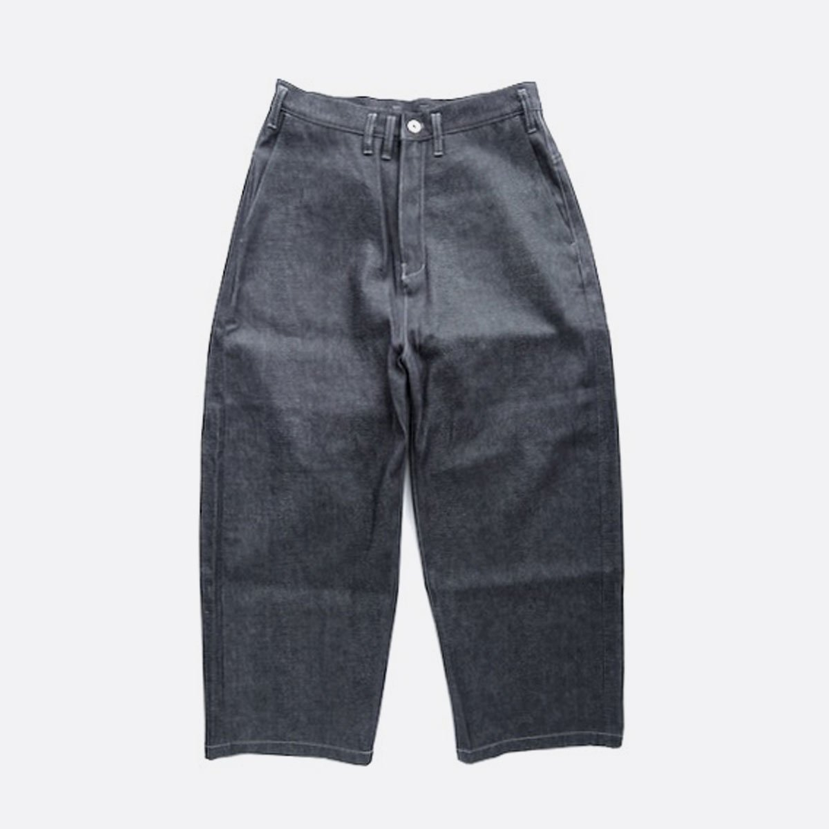 FIRMUM SUPIMA UNEVEN YARN BUGGY STRAIGHT SELVEDGE DENIM  (INDIGO)