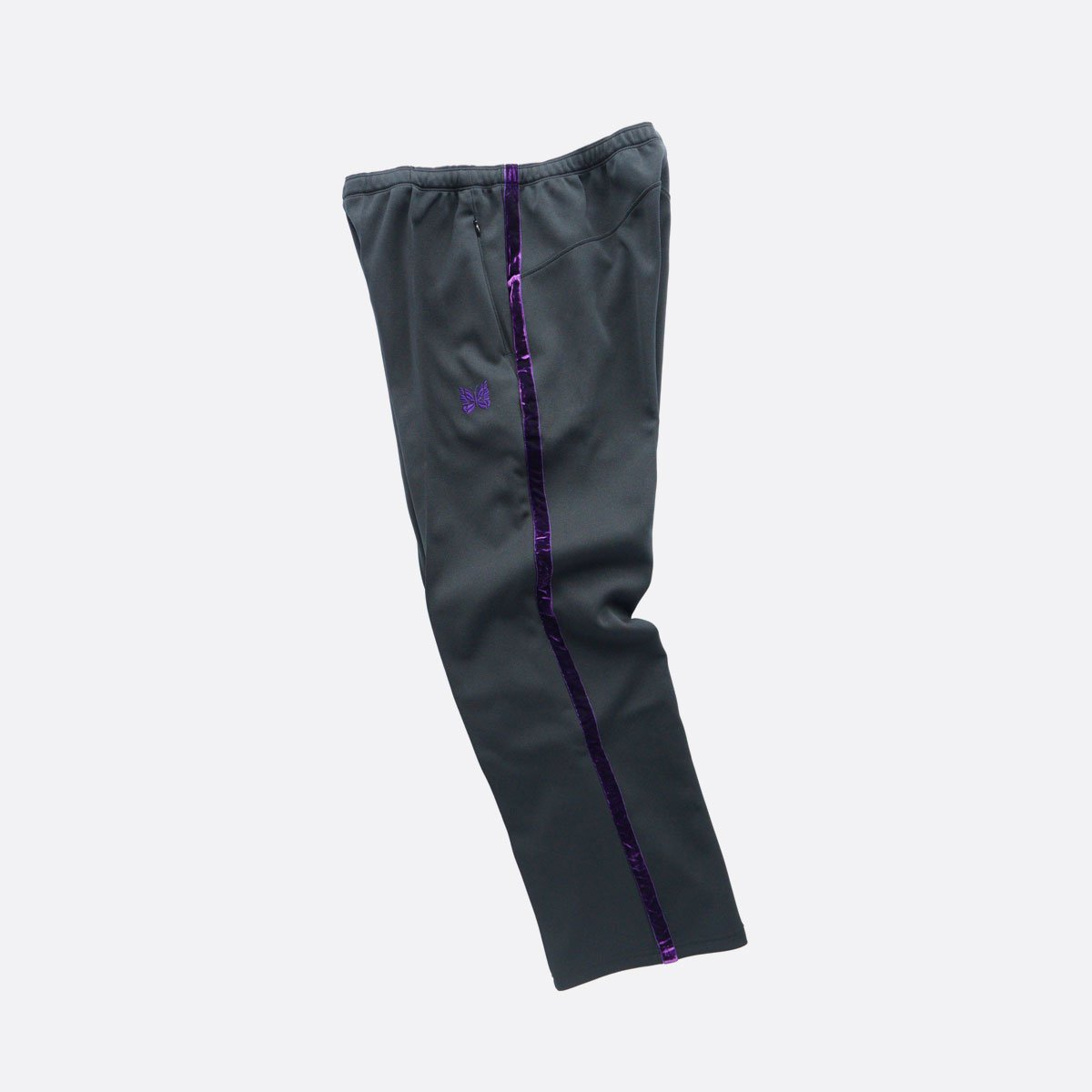 NEEDLES  Side Line Center Seam Pant - Poly Smooth  (black)3