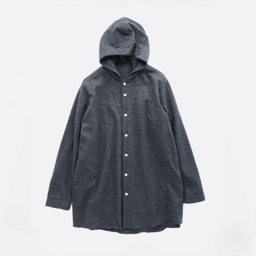 MILLING WOOL & COTTON TWILL SHIRTS PARKA
