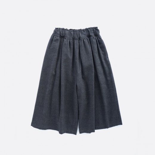 MILLING WOOL & COTTON TWILL WIDE PANTS