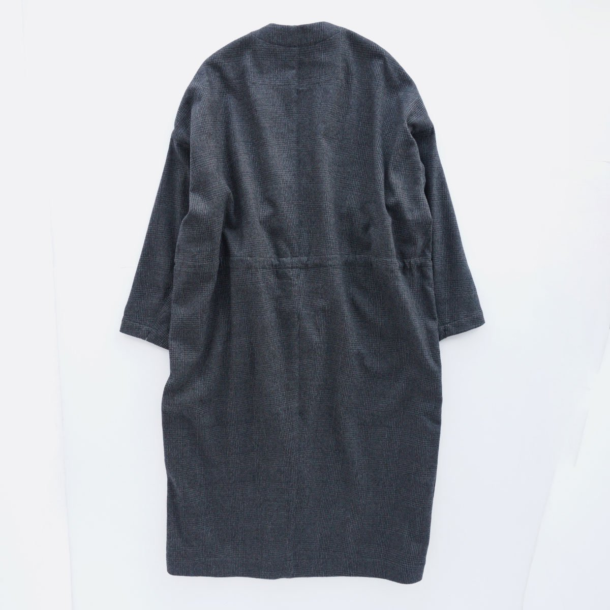 FIRMUM MILLING WOOL & COTTON TWILL COAT (GREY&BLACK/CH)2