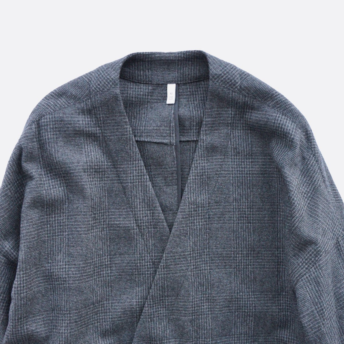 FIRMUM MILLING WOOL & COTTON TWILL COAT (GREY&BLACK/CH)3