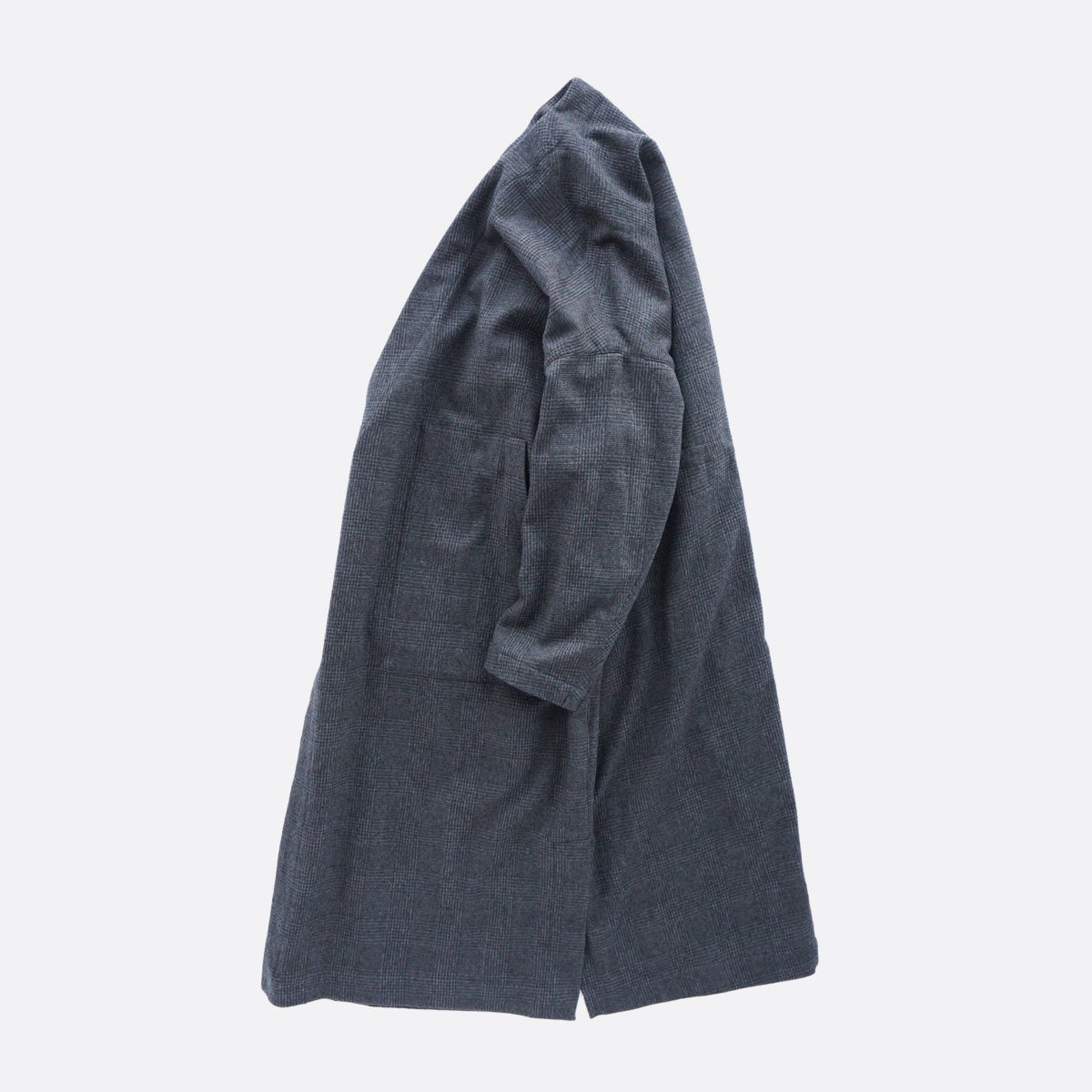 FIRMUM MILLING WOOL & COTTON TWILL COAT (GREY&BLACK/CH)4
