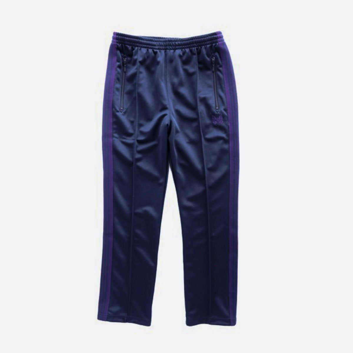 NEEDLES  NARROW TRACK PANT - POLY SMOOTH  (NAVY)