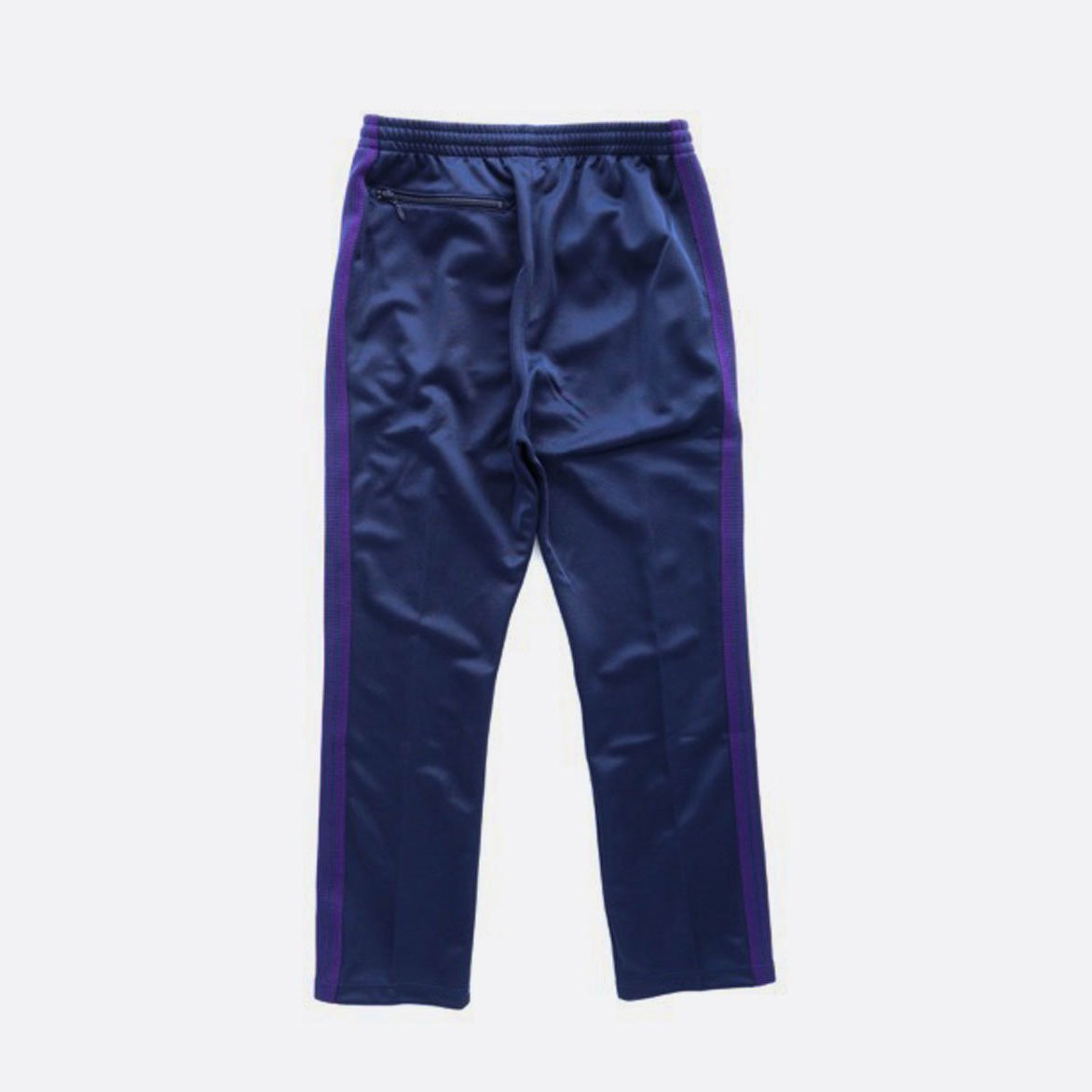 NEEDLES  NARROW TRACK PANT - POLY SMOOTH  (NAVY)2