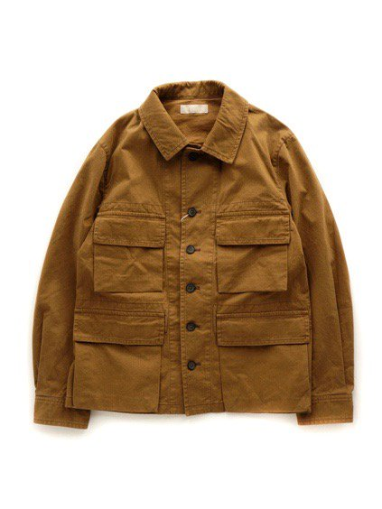 COLINA BDU Jacket   Organic Cotton Soft Chino  (Camel)