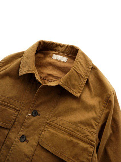 COLINA BDU Jacket   Organic Cotton Soft Chino  (Camel)2