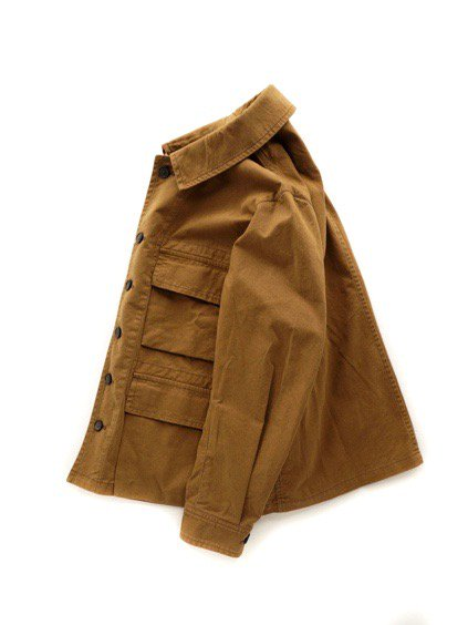 COLINA BDU Jacket   Organic Cotton Soft Chino  (Camel)3