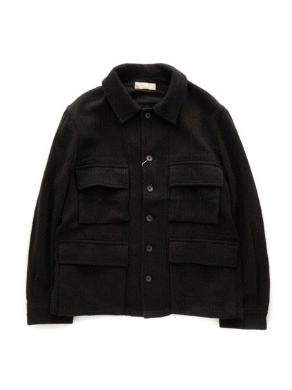 COLINA BDU Jacket   Hand Spun Cotton Twill  (Black)