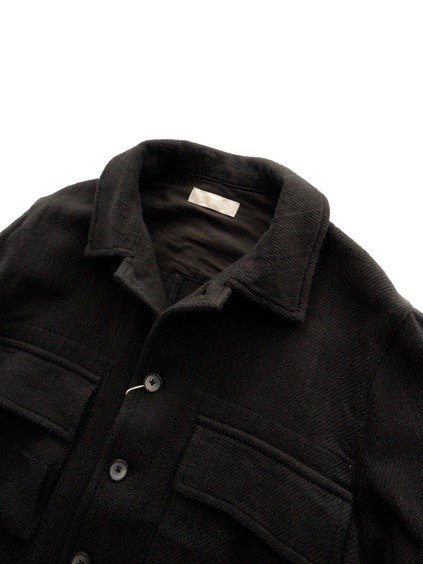 COLINA BDU Jacket   Hand Spun Cotton Twill  (Black)2
