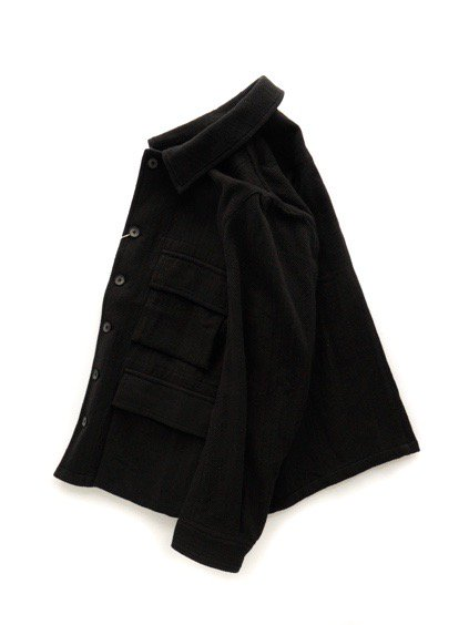 COLINA BDU Jacket   Hand Spun Cotton Twill  (Black)3