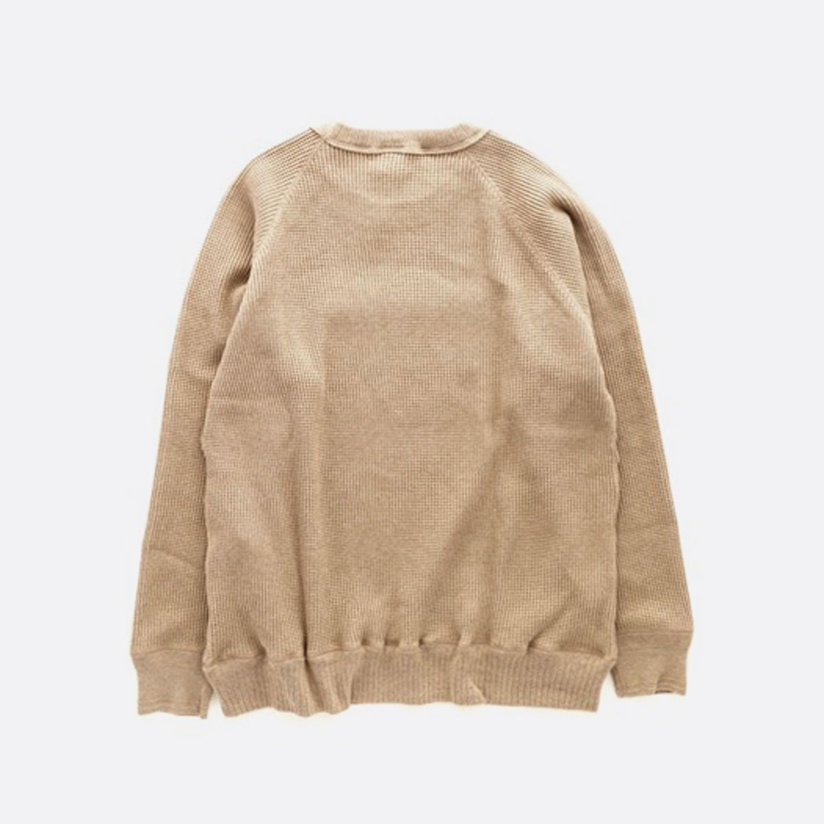 A VONTADE  26/2 BD Waffle Crew Top (AMBER MIX)2