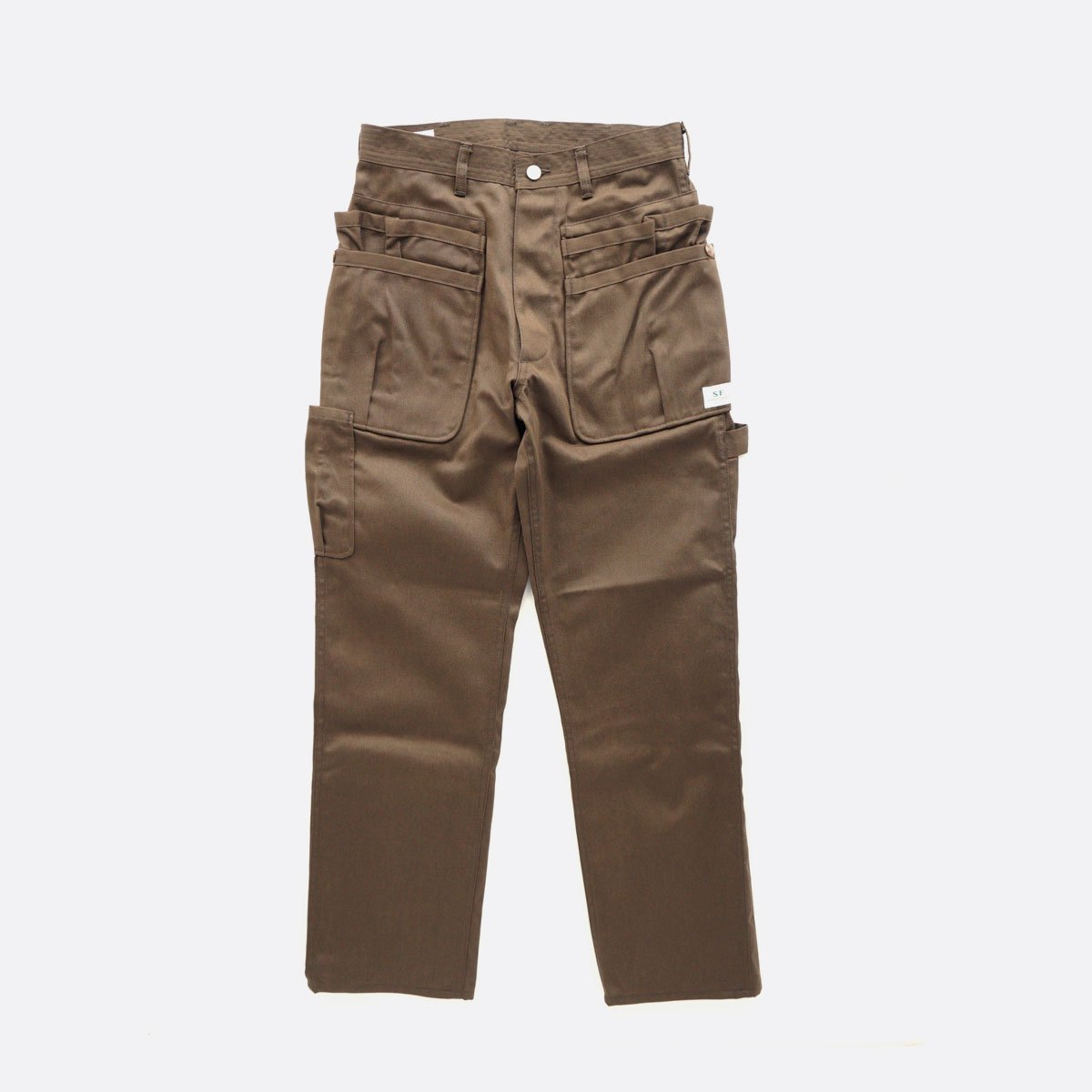 SASSAFRAS WHOLE HOLE PANTS T/C CHINO (BROWN)