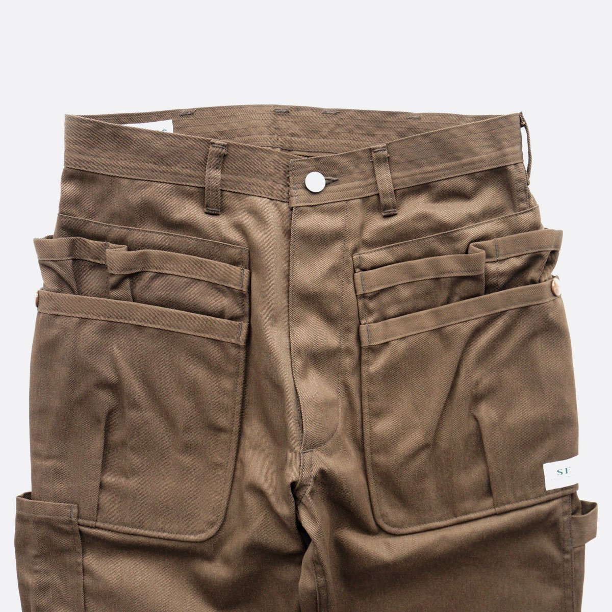 SASSAFRAS WHOLE HOLE PANTS T/C CHINO (BROWN)3